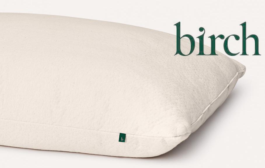 the birch pillow organic wool organic cotton and talalay latex