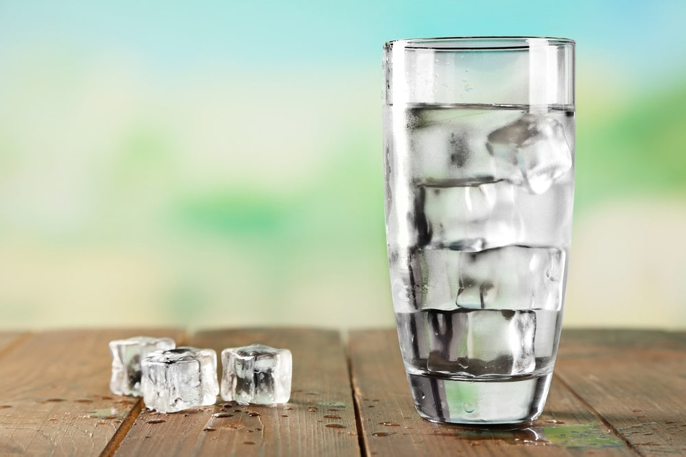 cold glass of water to keep you awake
