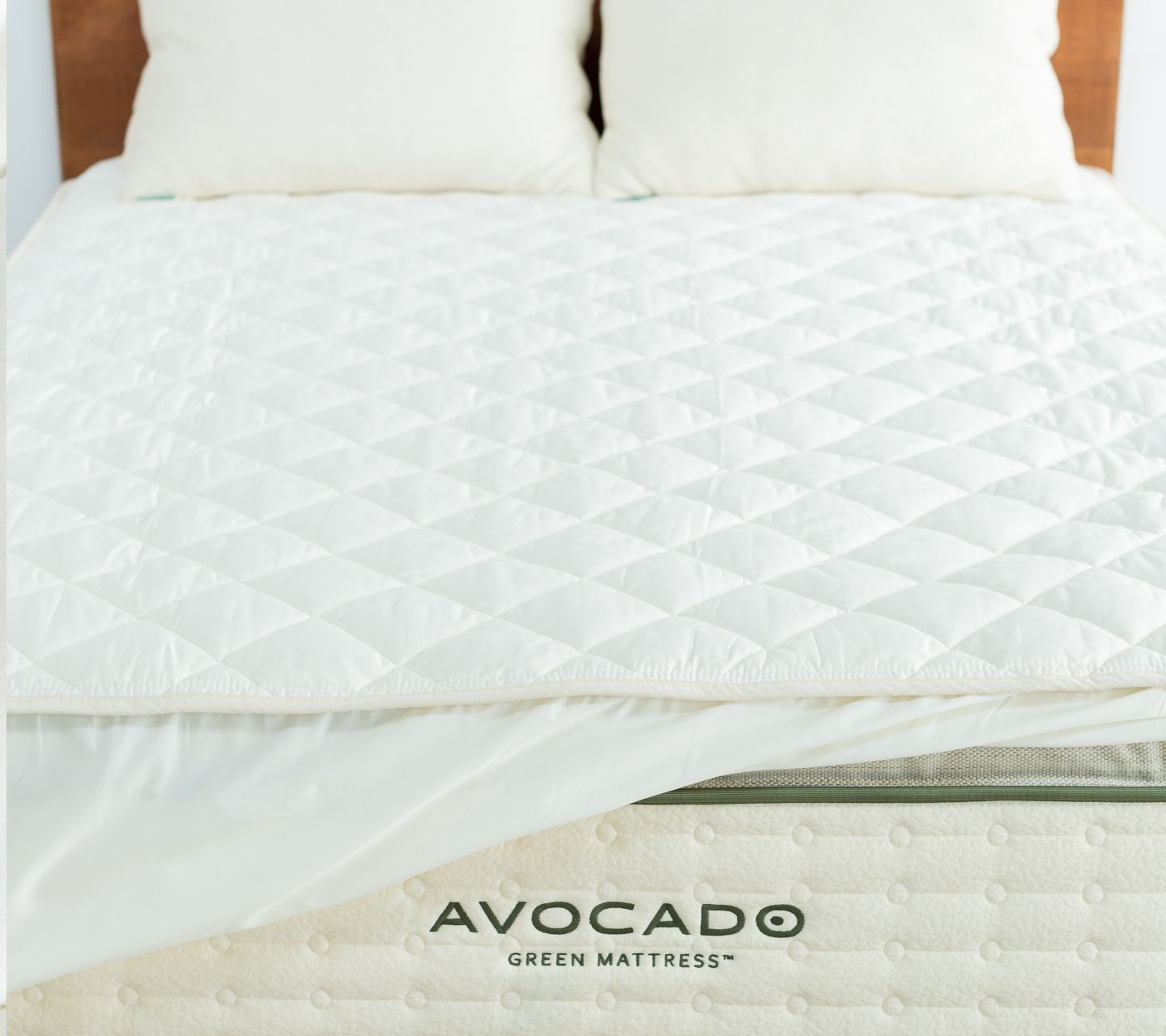 quilted cotton organic mattress pad