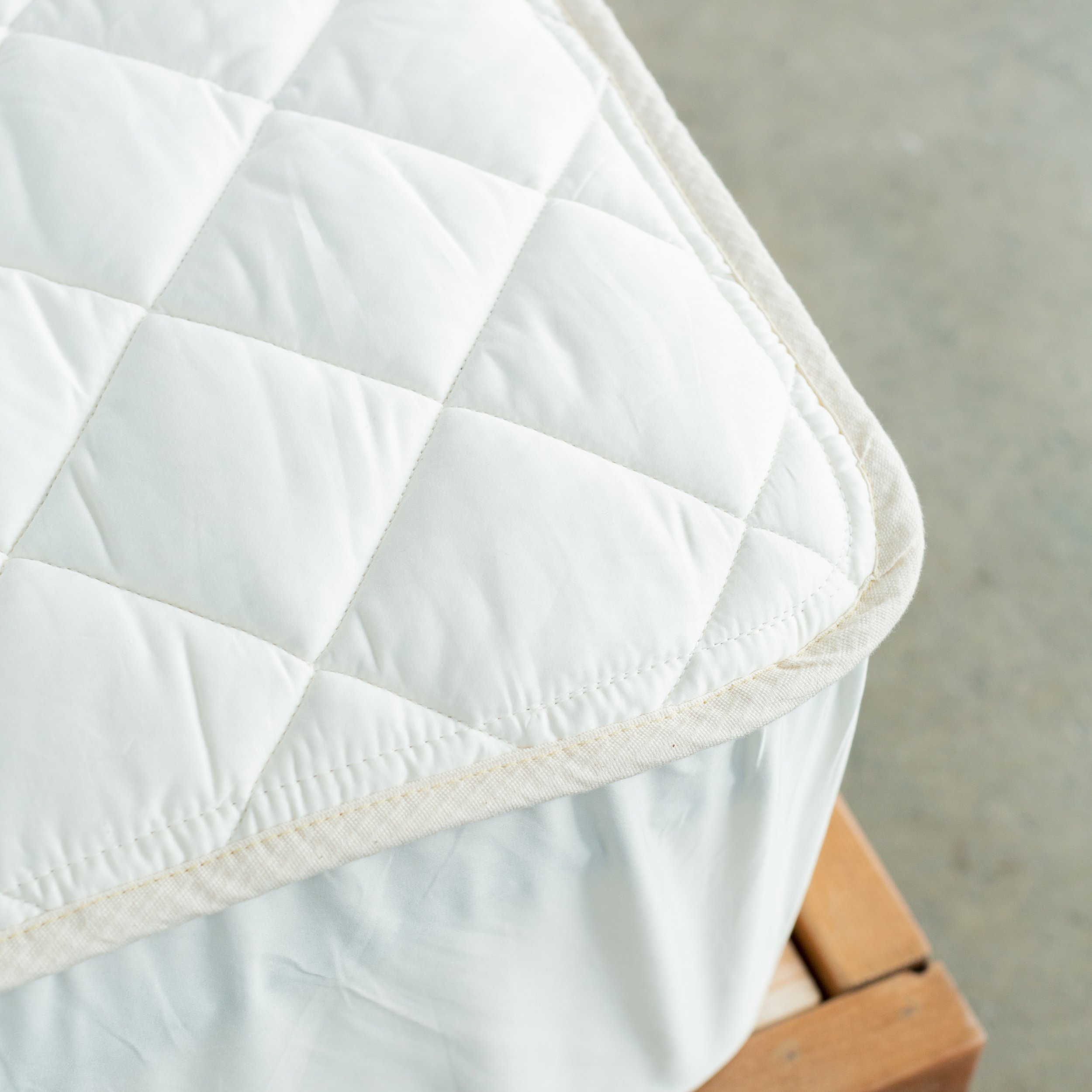comfort 100% organic cotton mattress pad