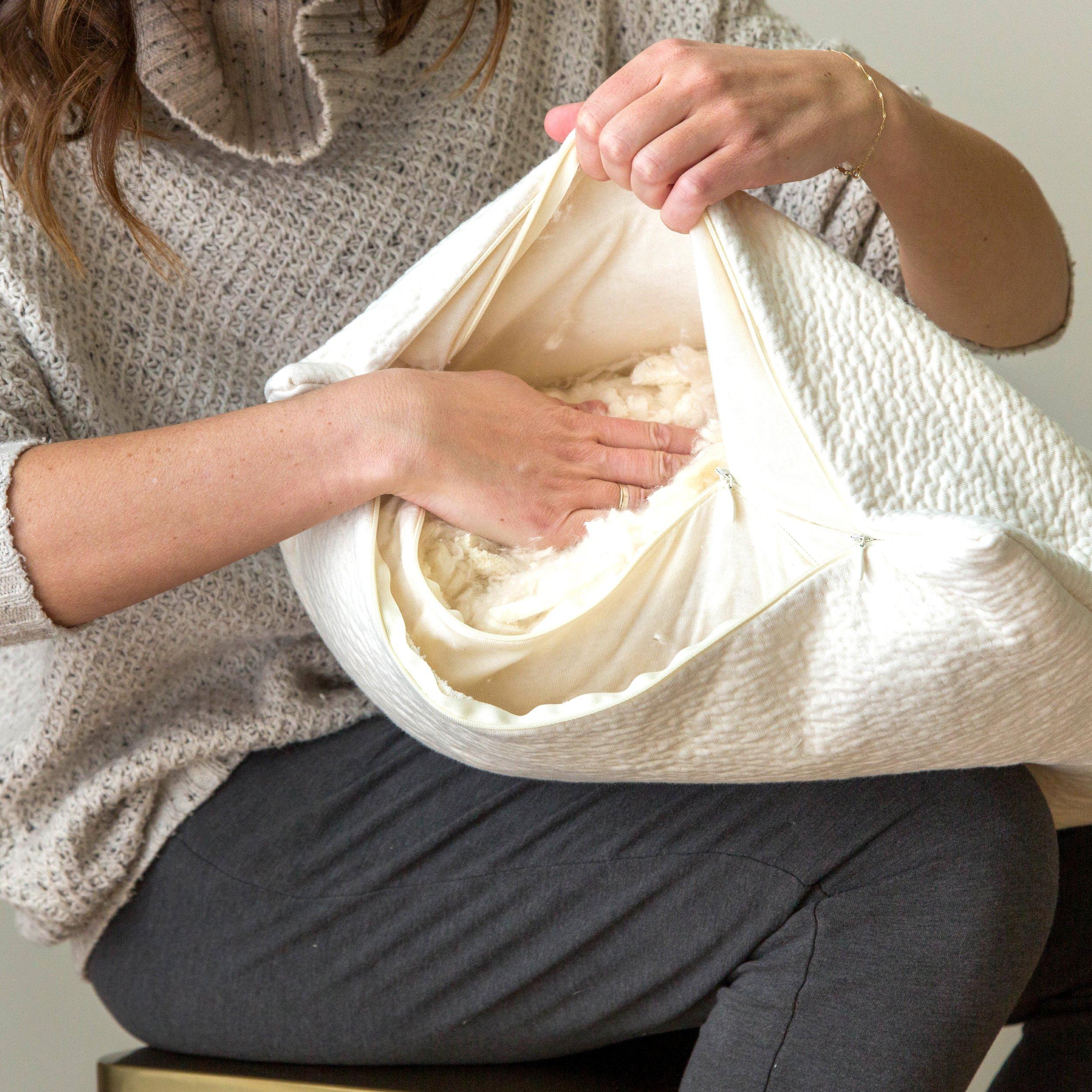 adjustable comfort remove kapok fibers and latex fill