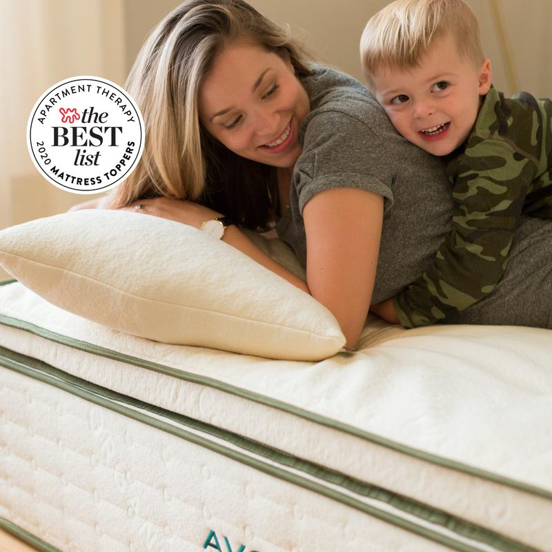 avocado green latex organic mattress topper from Avocado