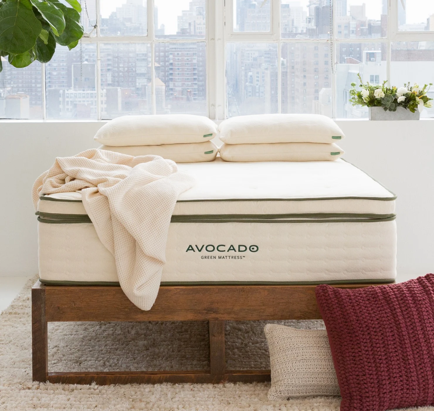 the avocado mattress topper made with organic cotton and latex