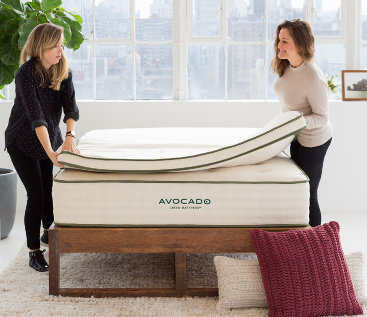 organic mattress topper with wool and dunlop