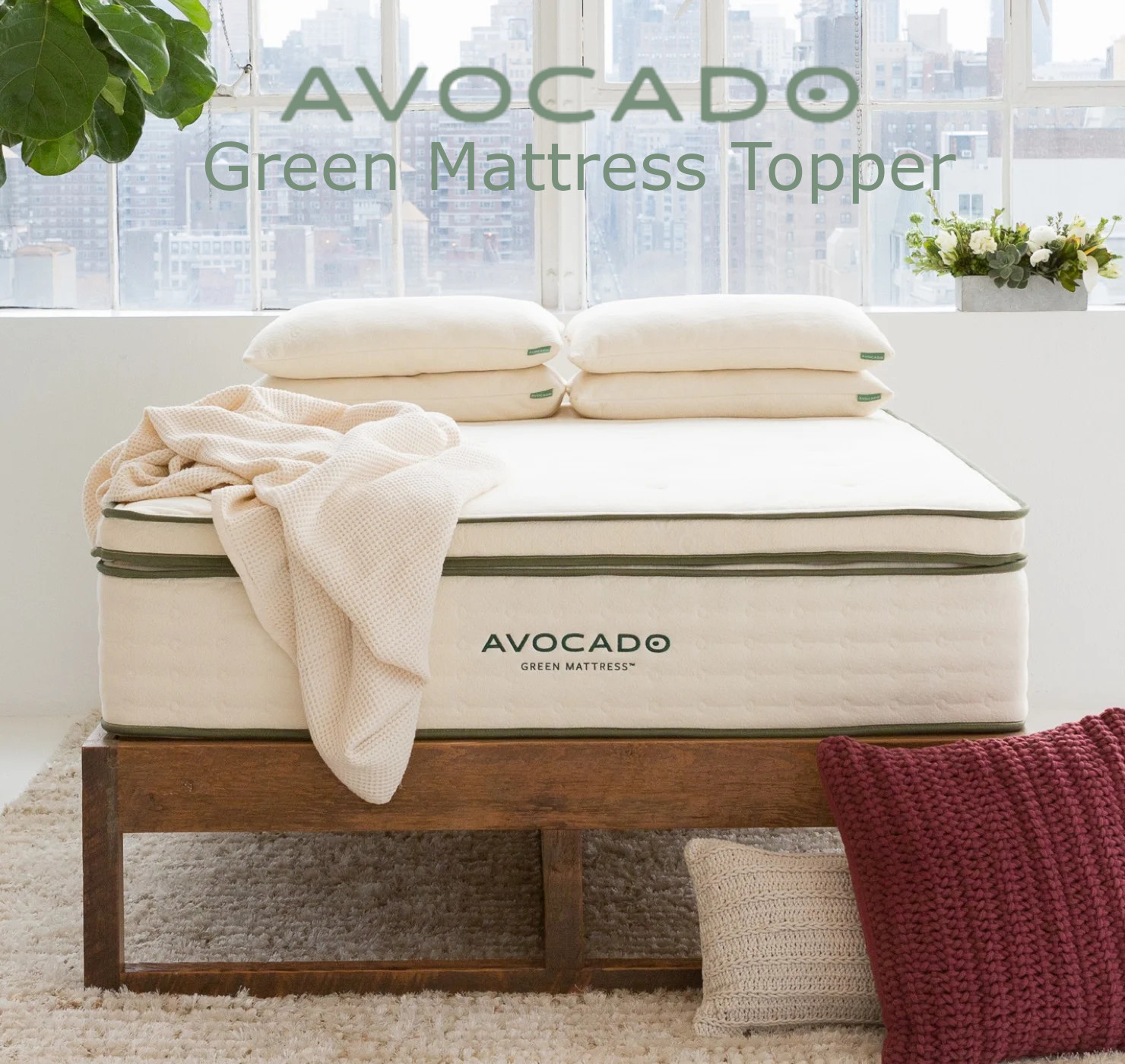 avocado green mattress topper