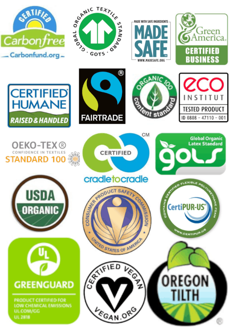 mattress certification logos