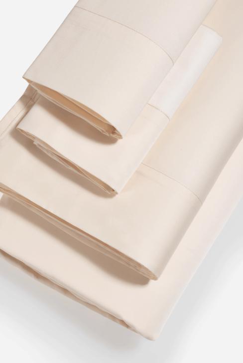 cream colored tencil sheets set