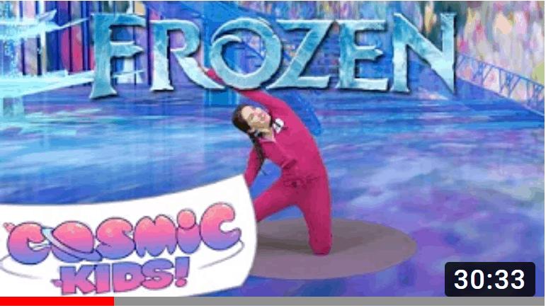 frozen yoga child meditation