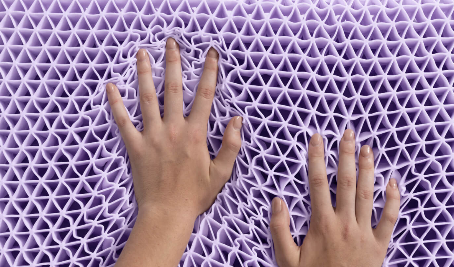 a purple grid comfort and feel