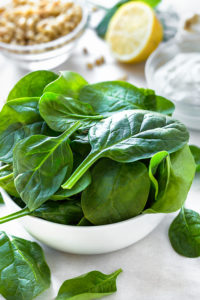 spinach and leafy greens are high in magnesium