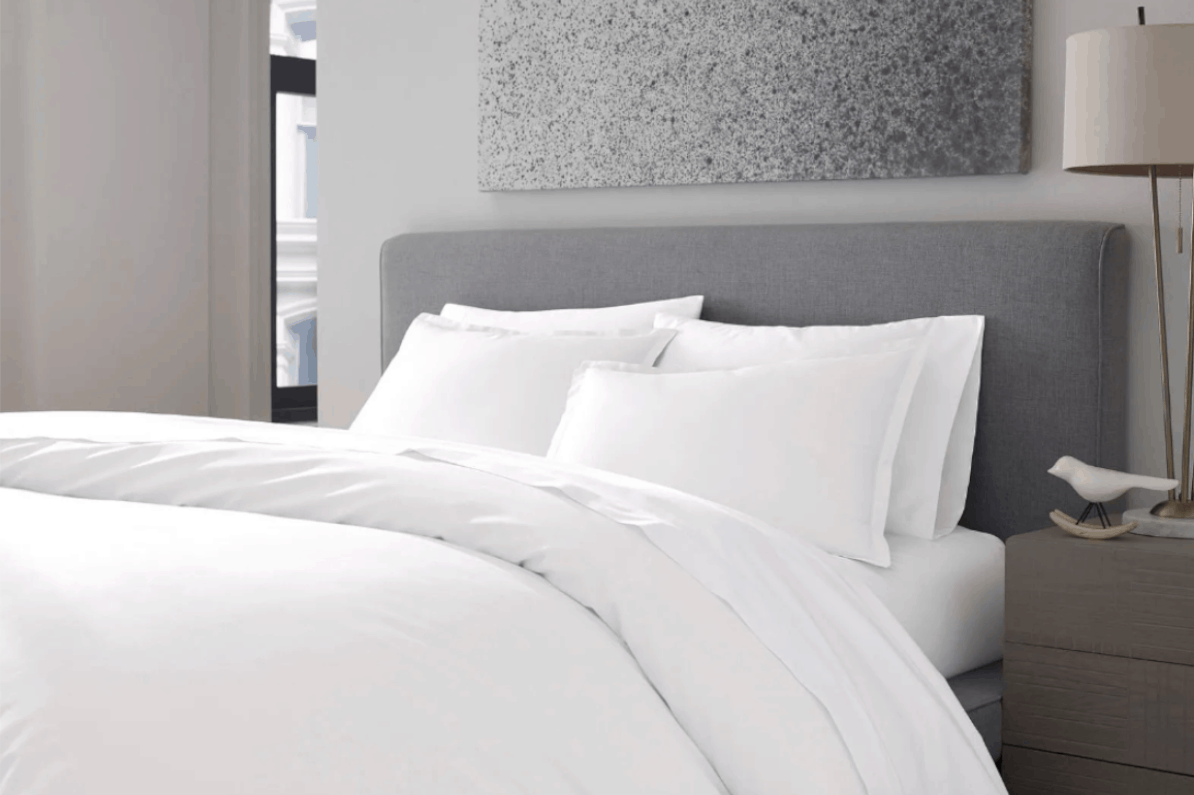classic white percale sheets