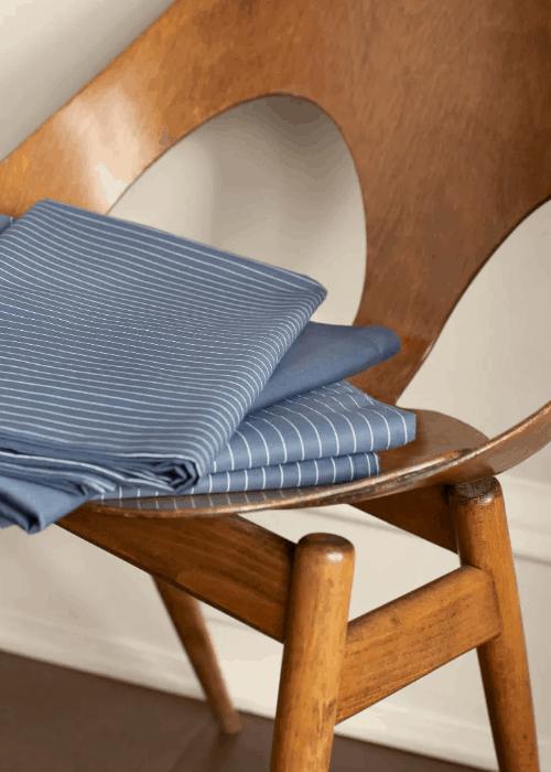 Pin Stripe Blue Sheets