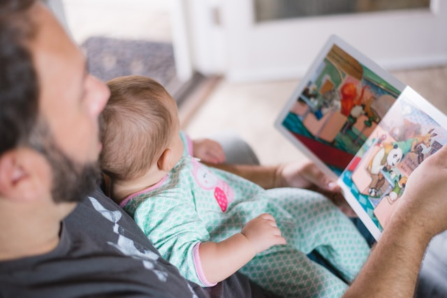 reading and relaxing is bonding time with children