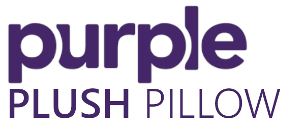 purple plush pillow logo
