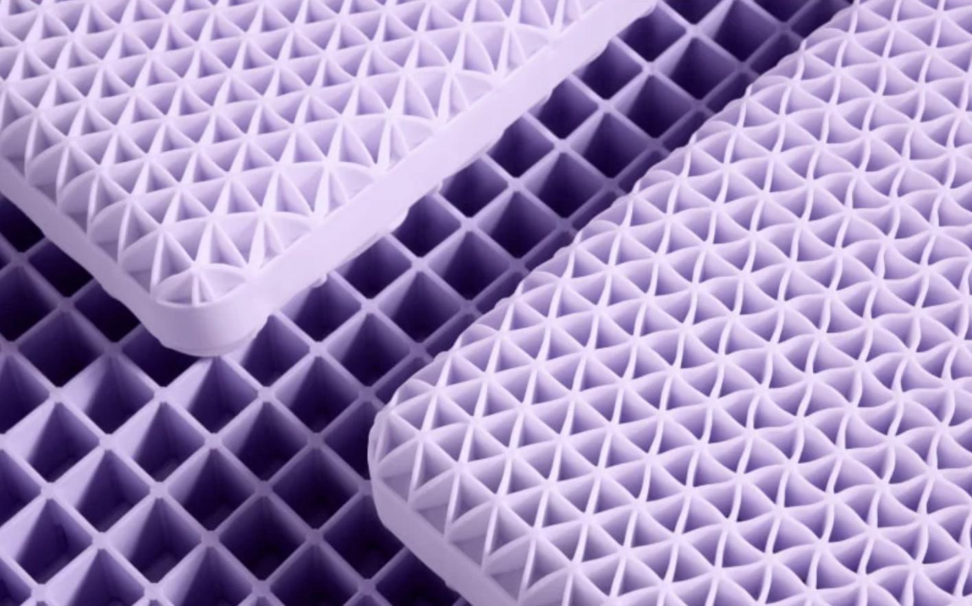 purple grid pillow comfort low profile