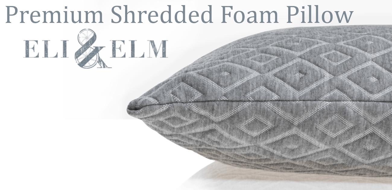 premium shredded foam pillow eli and elm