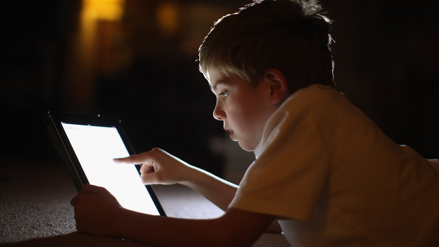tablets keeping kids awake routine
