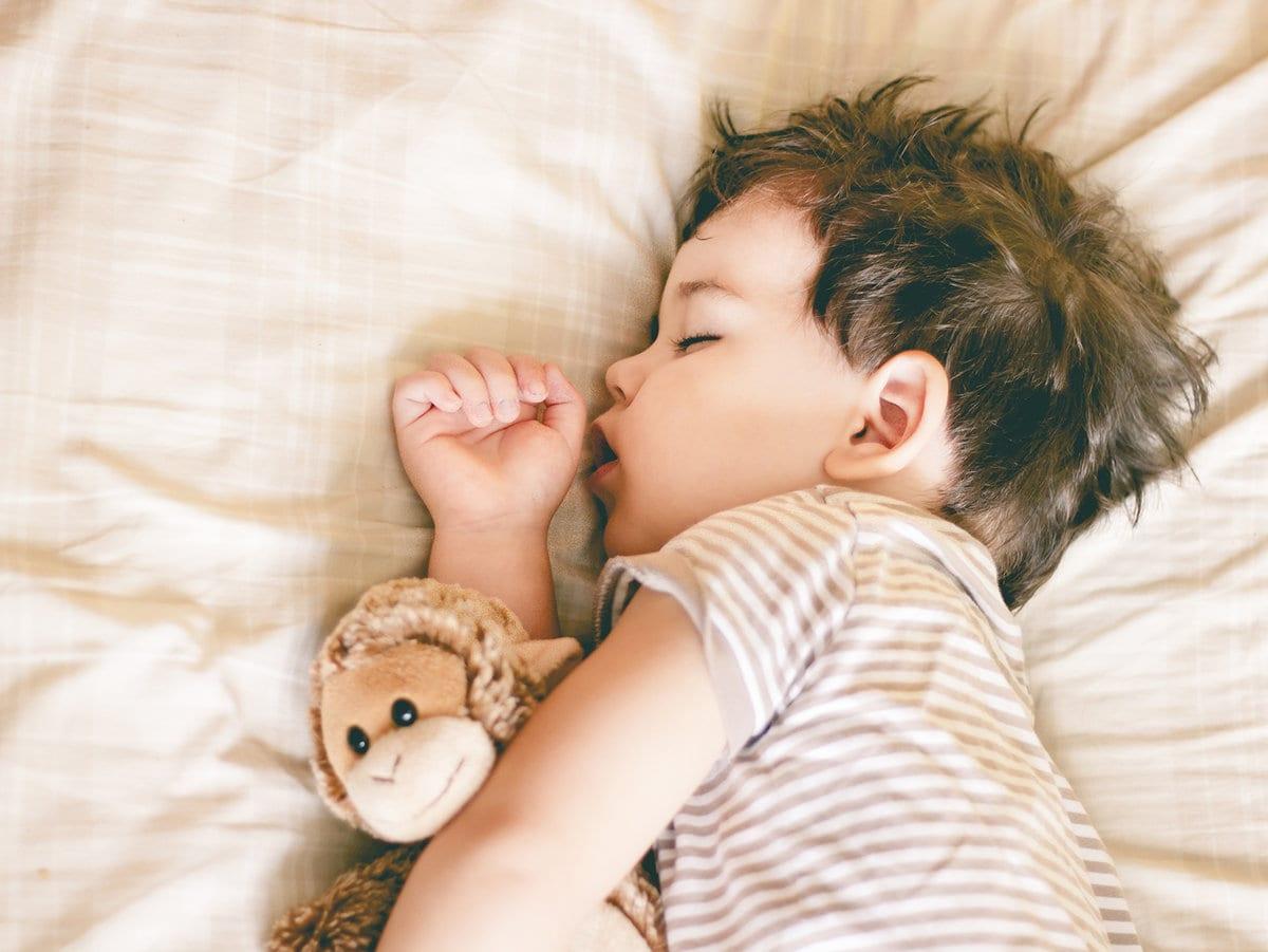 baby boy sleeping sweetly