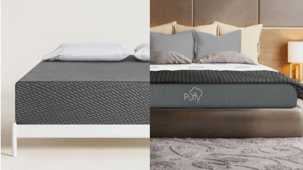 tuft and needle mint mattress VS puffy comparison