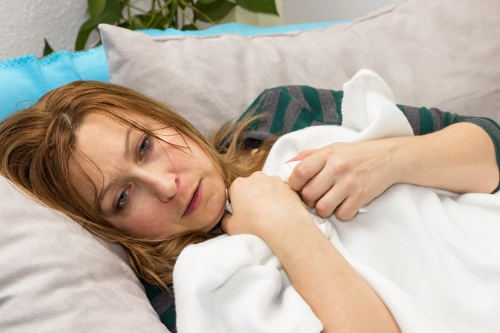 night sweats and temperature changes caused by alcohol