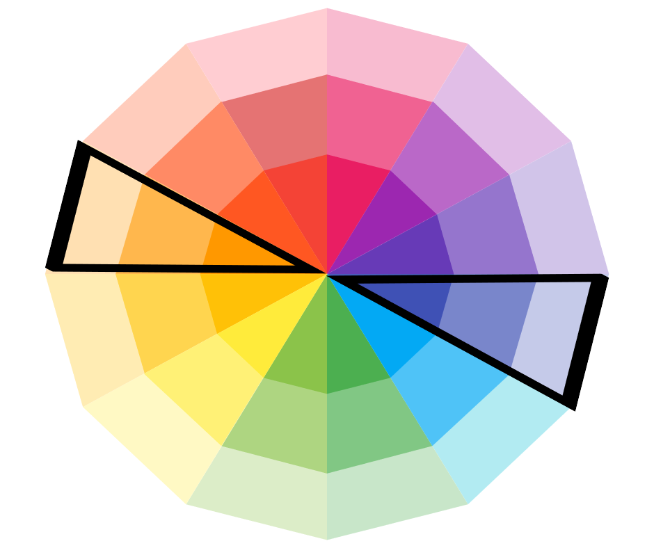 complimentary colors on the colorwheel