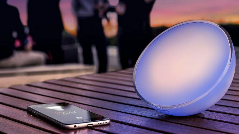 go lights as an alarm clock