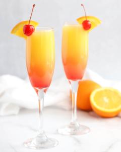 gorgeous sunrise mimosas
