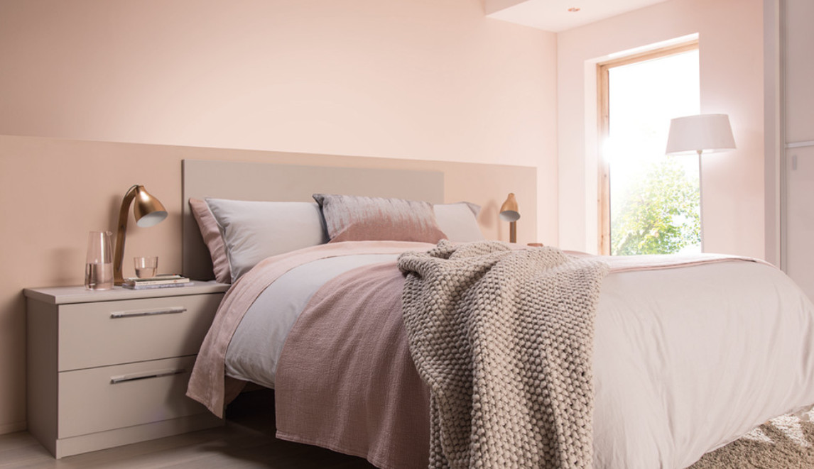 does natural blush pink skin tones work well for bedrooms?