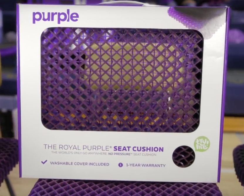 shipping and warranty for seat cushion by purple
