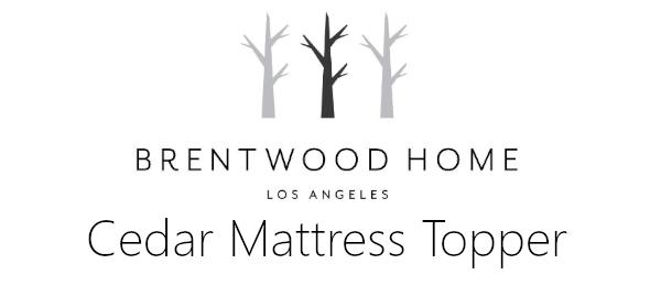 cedar mattress topper review logo