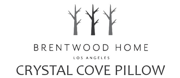 crystal cove pillow logo