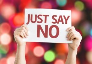 just say no during the holiday season