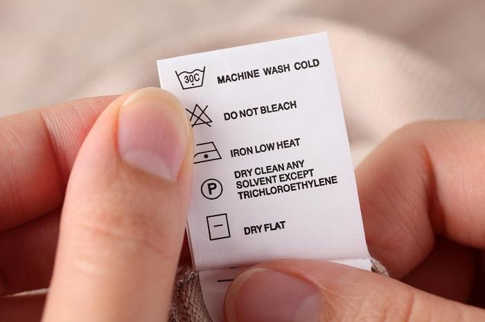 following wash instructions