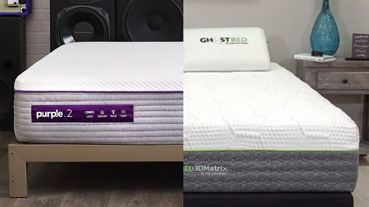 new purple vs ghostbed 3d matrix