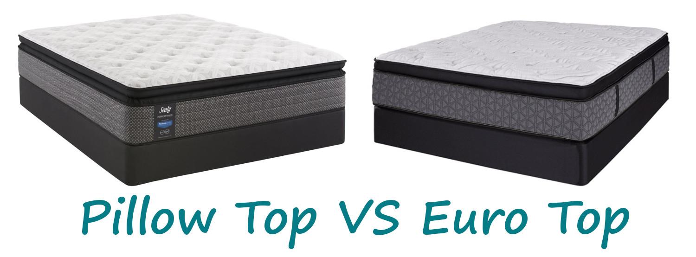 pillow top vs euro top mattresses