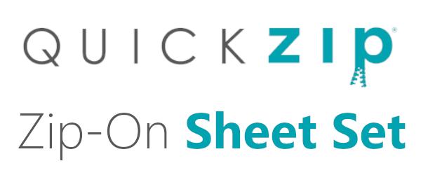 quick zip sheet set zip on fitted sheet