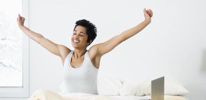 sleeping happy healthy and caffeine free