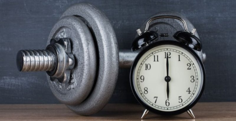 try not to exercise right before bed