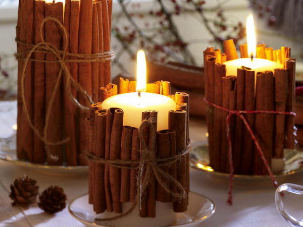winter scented candles help set the mood