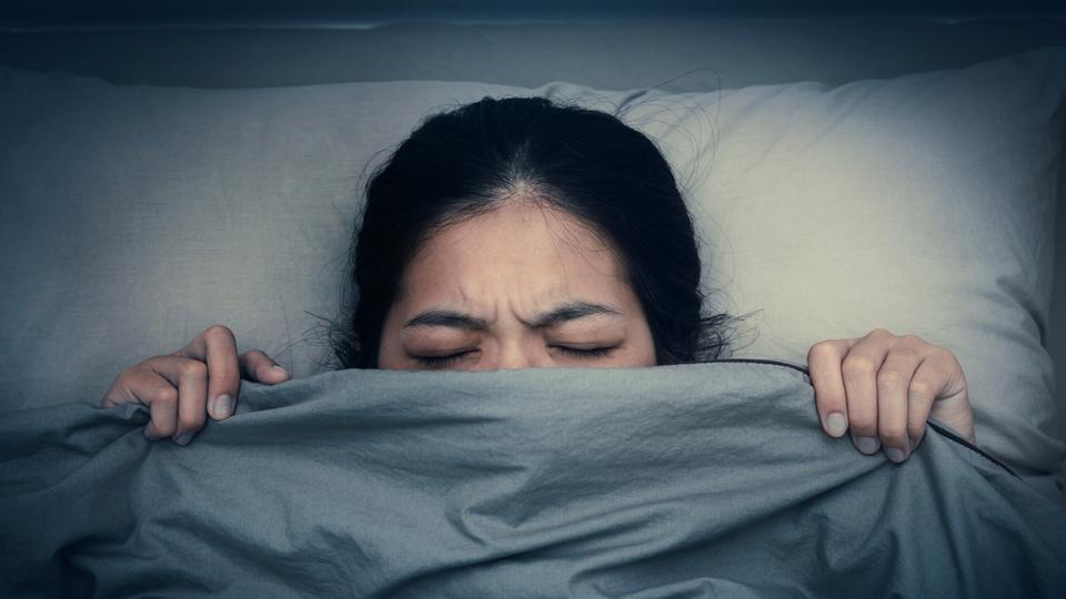 falling asleep when scared