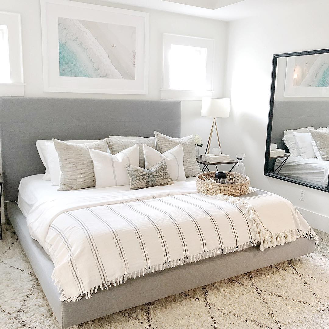 clean bedding and simple design