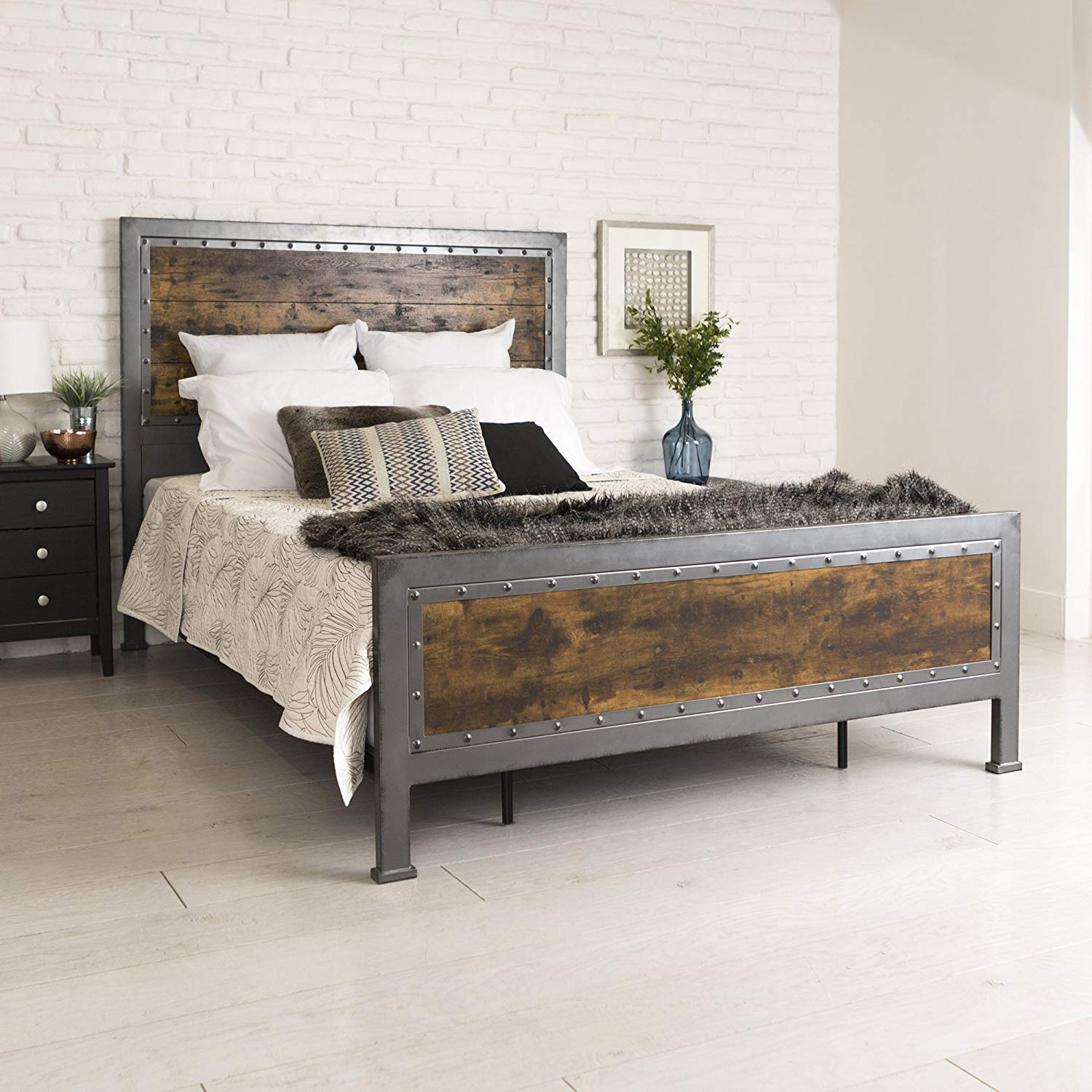 decorate your bedroom with rustic pieces of furniture