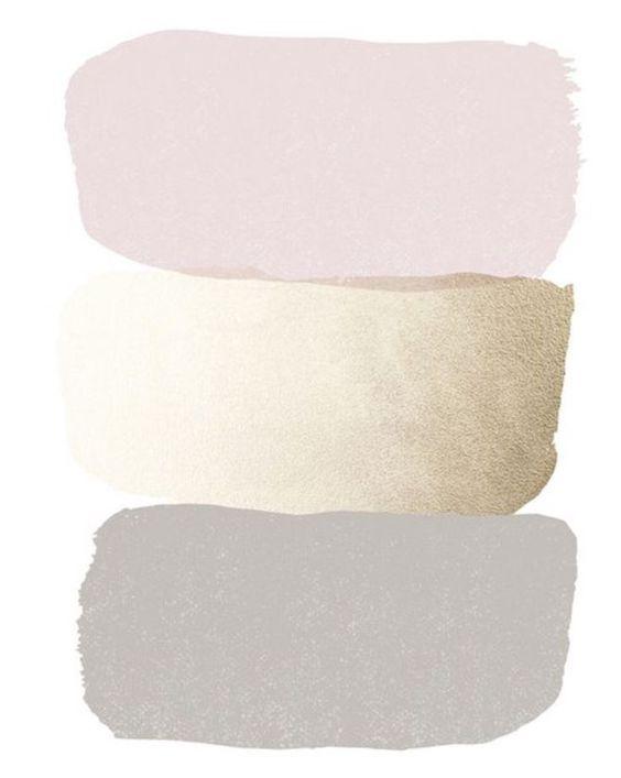 glam bedroom color palette