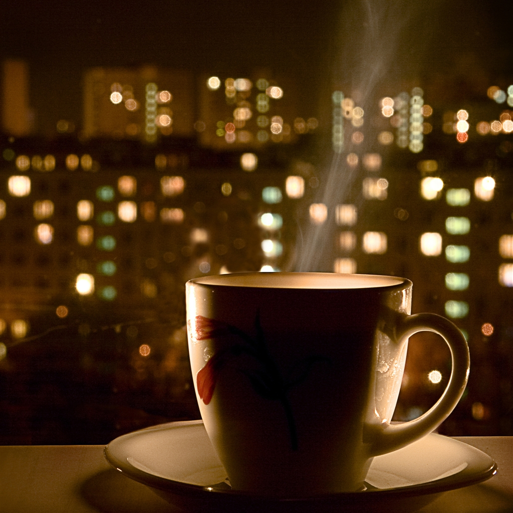 drinking tea to ease nerves from nightmares