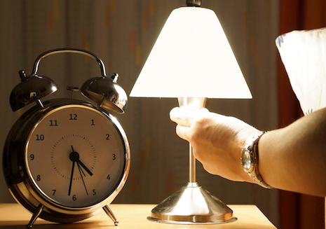 turn on your bedside light to get better sleep after scary movie