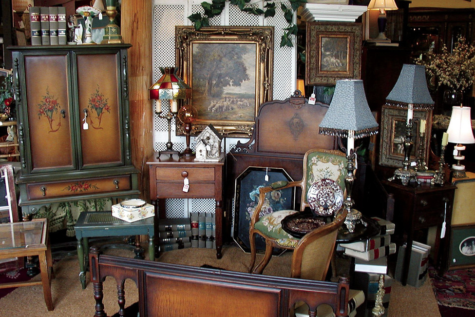 antique shops versus thrift stores