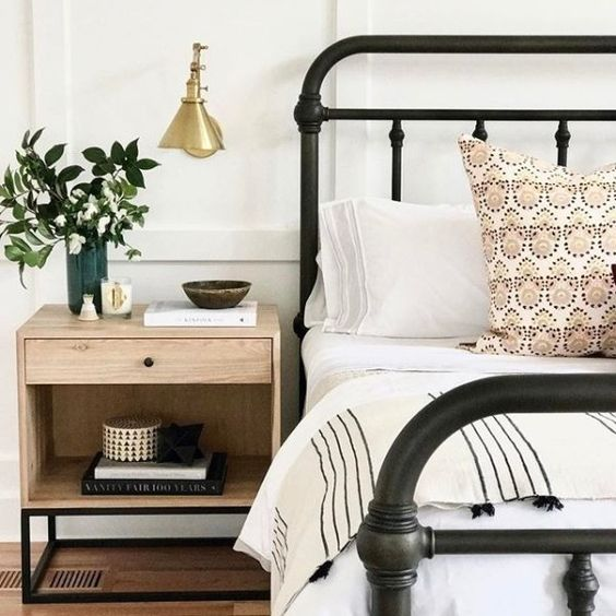 iron bed frames great for that farmhouse look