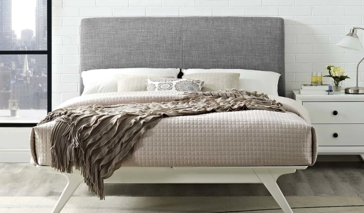 the perfect mid-mod bed