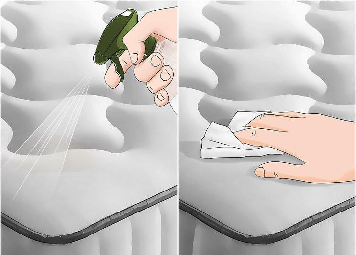 cleaning vomit from mattress