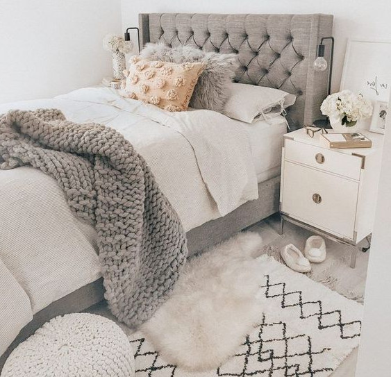 fall shabby chic bedroom design